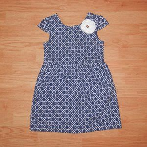 Janie & Jack Size 5 Girls Geometric Print Dress